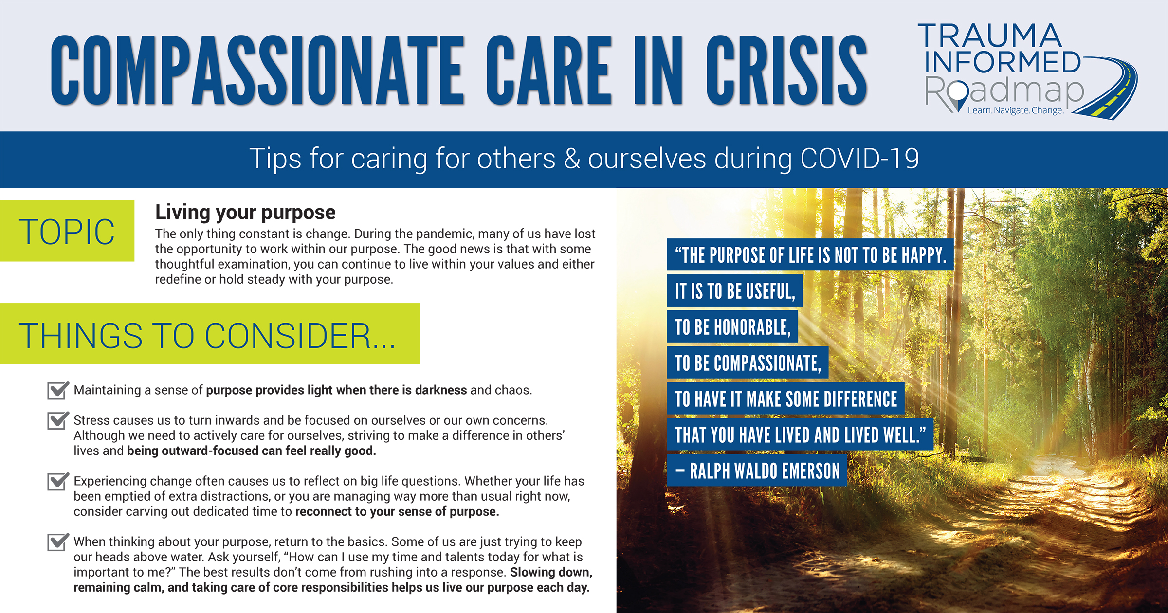 Compassionate Care in Crisis: Living Your Purpose